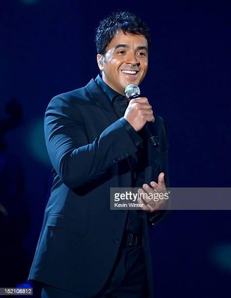 Singer Luis Fonsi performs onstage at the 2012 NCLR ALMA Awards at Pasadena Civic Auditorium on September 16 2012 in Pasadena California