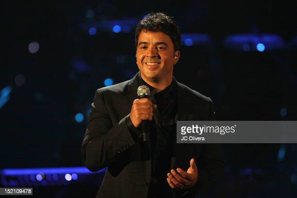 Singer Luis Fonsi performs onstage during the 2012 NCLR ALMA Awards at Pasadena Civic Auditorium on September 16 2012 in Pasadena California