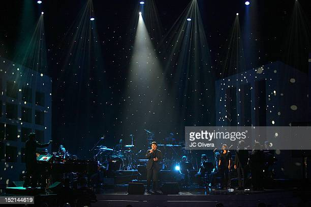 Singer Luis Fonsi performs onstage during the 2012 NCLR ALMA Awards at Pasadena Civic Auditorium on September 16 2012 in Pasadena California
