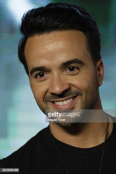 Singer Luis Fonsi poses for pictures during a press conference to promote his new single 'Despacito' featurin Daddy Yankee in Mexico City at...