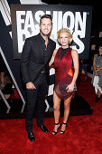 Singer Luke Bryan and Caroline Boyer attend Fashion Rocks 2014 presented by Three Lions Entertainment at the Barclays Center of Brooklyn on September...