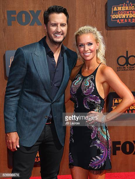Singer Luke Bryan and Caroline Boyer attend the 2016 American Country Countdown Awards at The Forum on May 1 2016 in Inglewood California