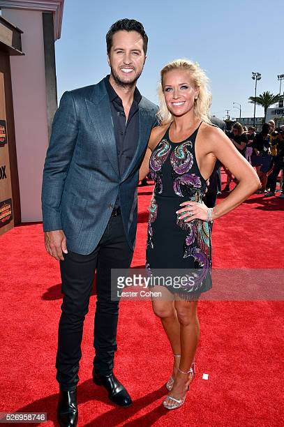 Singer Luke Bryan and Caroline Boyer attends the 2016 American Country Countdown Awards at The Forum on May 1 2016 in Inglewood California