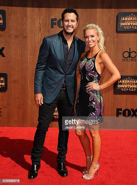 Singer Luke Bryan and wife Caroline Boyer attend the 2016 American Country Countdown Awards at The Forum on May 01 2016 in Inglewood California