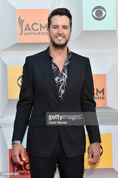 Singer Luke Bryan attends the 51st Academy of Country Music Awards at MGM Grand Garden Arena on April 3 2016 in Las Vegas Nevada