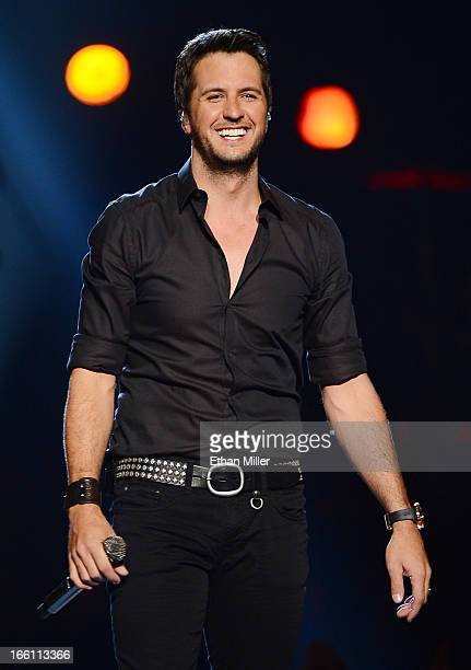 Singer Luke Bryan performs onstage during Tim McGraw's Superstar Summer Night presented by the Academy of Country Music at the MGM Grand Garden Arena...