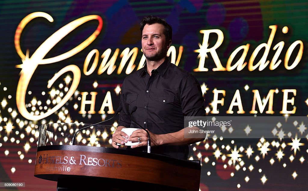 Singer <a gi-track='captionPersonalityLinkClicked' href=/galleries/search?phrase=Luke+Bryan&family=editorial&specificpeople=4001956 ng-click='$event.stopPropagation()'>Luke Bryan</a> speaks onstage during CRS 2016 at Omni Hotel on February 8, 2016 in Nashville, Tennessee.