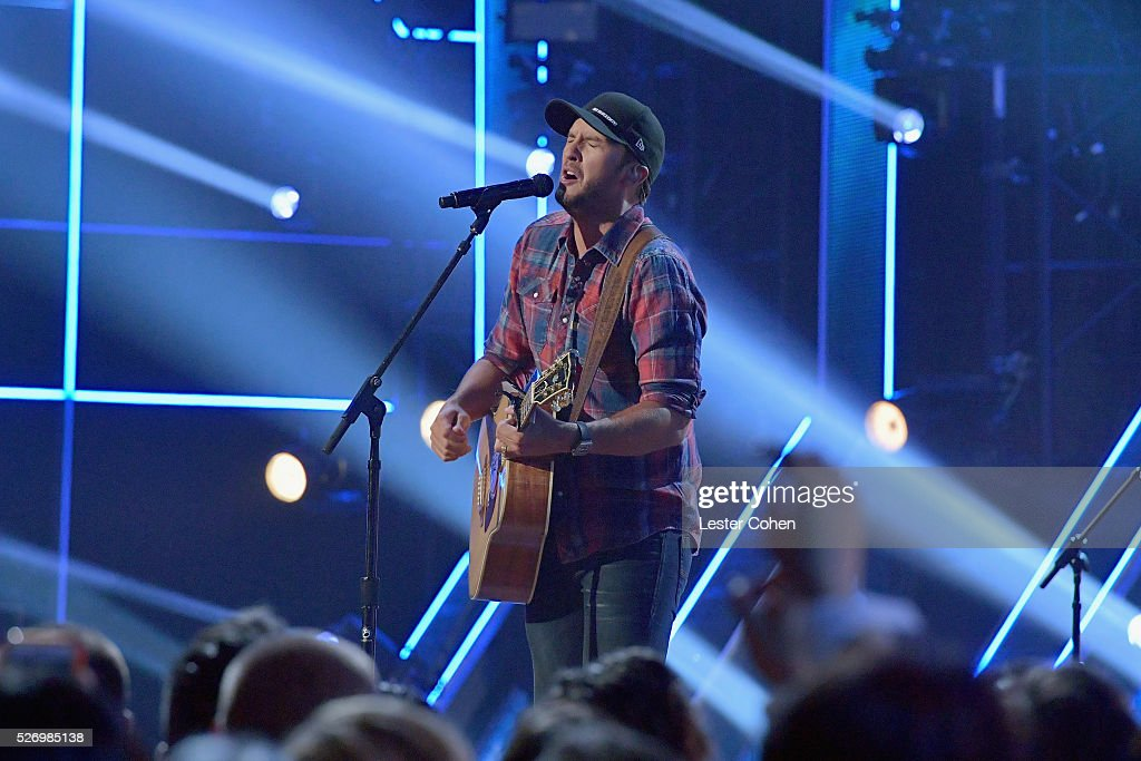 Singer Luke Byan performs onstage during the 2016 American Country Countdown Awards at The Forum on May 1, 2016 in Inglewood, California.
