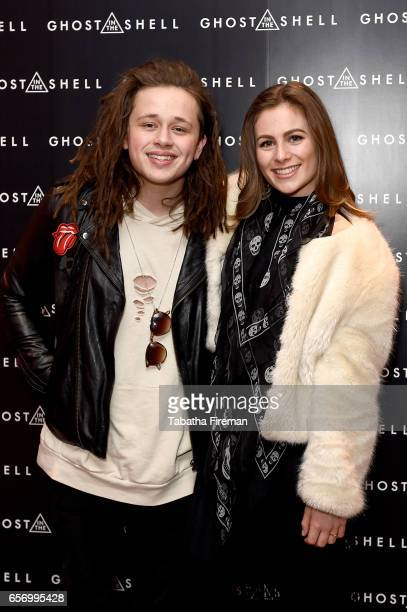 Singer Luke Friend and blogger Steph Elswood attend the 'Ghost in The Shell' London Gala Screening on March 23 2017 in London United Kingdom