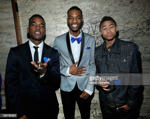 Singer Luke James actor Jermaine Crawford and singer Torion Sellers attend the 2013 HOPE Inaugural Youth Ball at the Howard Theatre on January 20...