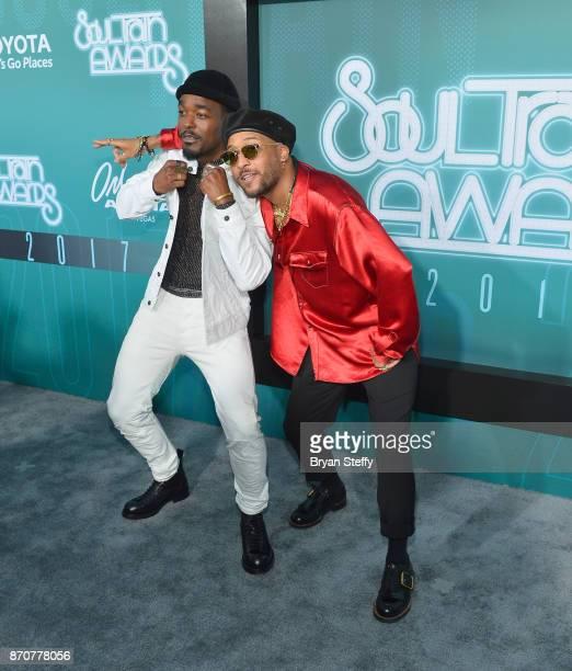 Singer Luke James and singer/songwriter Ro James attend the 2017 Soul Train Music Awards at the Orleans Arena on November 5 2017 in Las Vegas Nevada