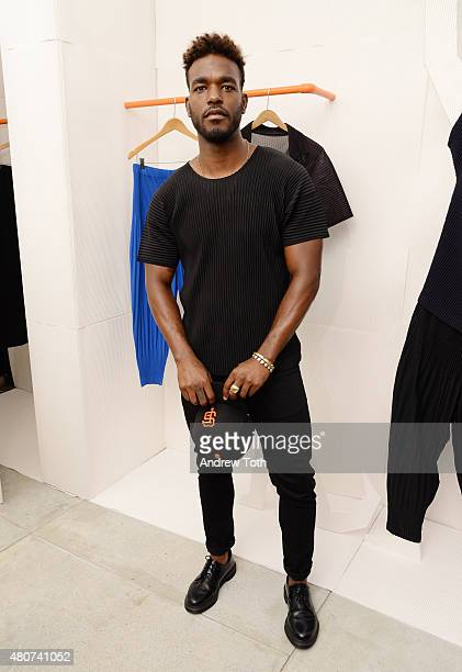 Singer Luke James attends the Homme Plisse Issey Miyake launch event during New York Fashion Week Men's S/S 2016 at Opening Ceremony on July 14 2015...