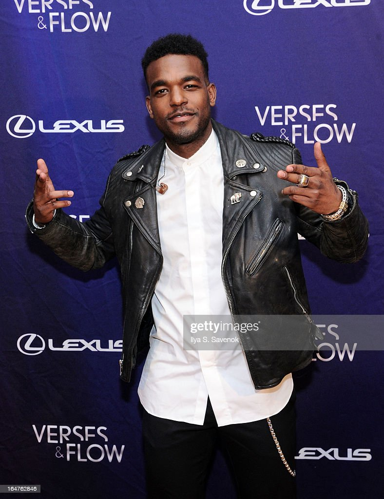 Singer Luke James attends 'Verses And Flow' Live at The Liberty Warehouse on March 27, 2013 in New York City.