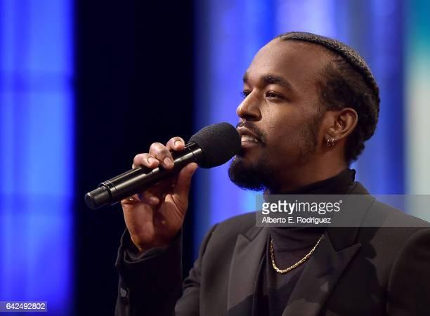 Singer Luke James speaks onstage during BET Presents the American Black Film Festival Honors on February 17 2017 in Beverly Hills California