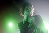 Singer Luke Pritchard of The Kooks performs live on stage at The Forum Kentish Town on October 17 2006 in London England
