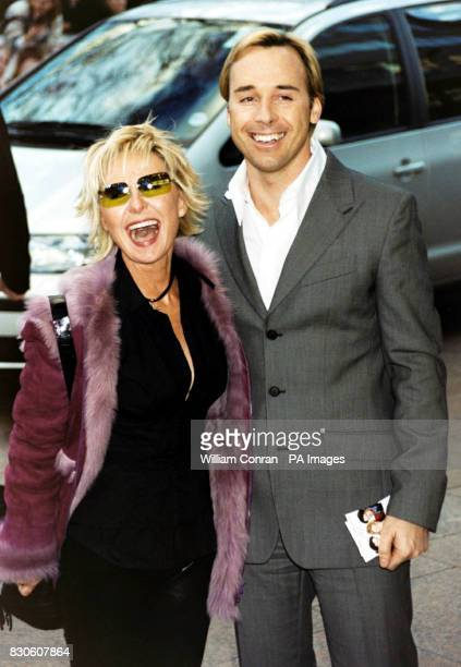 Singer Lulu with Elton John's partner David Furnish arriving for the UK premiere of 'Bridget Jones Diary' at the Empire in London's Leicester Square