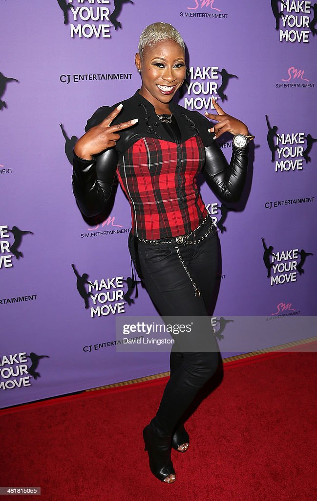 Singer Lundon 'Da Bridge' Knighten attends a screening of 'Make Your Move' at Pacific Theatre at The Grove on March 31, 2014 in Los Angeles, California.