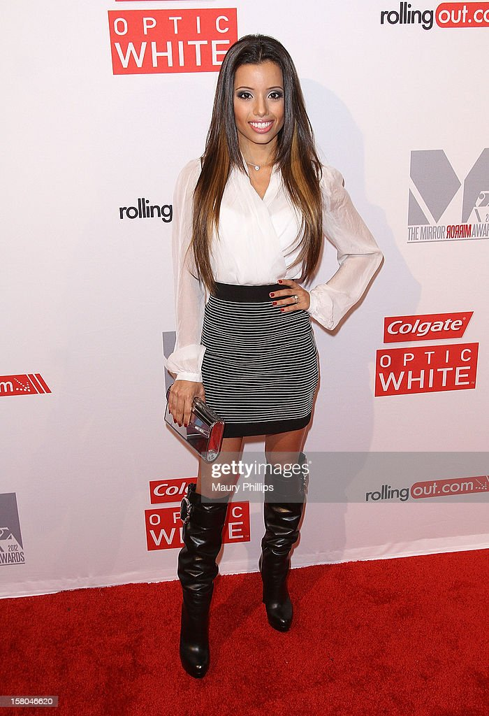 Singer Lupe Fuentes attends Rolling Out Mirror Mirror Awards at Rolling Stone Restaurant & Lounge on December 6, 2012 in Los Angeles, California.