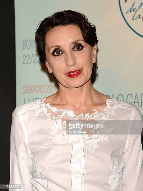 Singer Luz Casal attends a press conference to present 'Festival de la Luz' at the Lara Theater on July 5 2012 in Madrid Spain