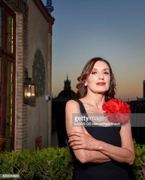 Singer Luz Casal is photographed for Paris Match on June 18 2017 in Seville Spain