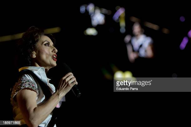 Singer Luz Casal performs live in 'Por Ellas' concert at Madrid sports palace on October 26 2013 in Madrid Spain