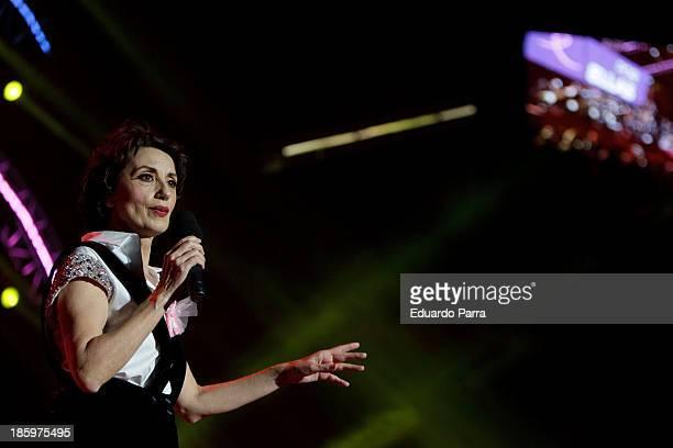 Singer Luz Casal performs live in 'Por Ellas' concert at Madrid sports palaceon October 26 2013 in Madrid Spain
