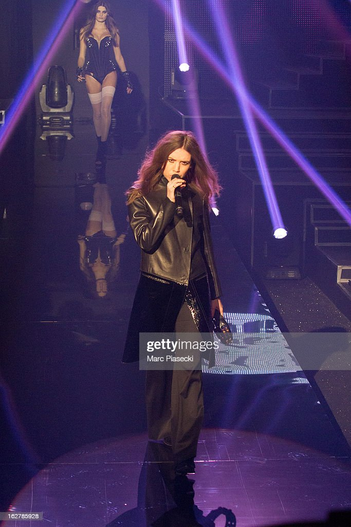 Singer Lykke Li performs during the 'Etam Live Show Lingerie' at Bourse du Commerce on February 26, 2013 in Paris, France.