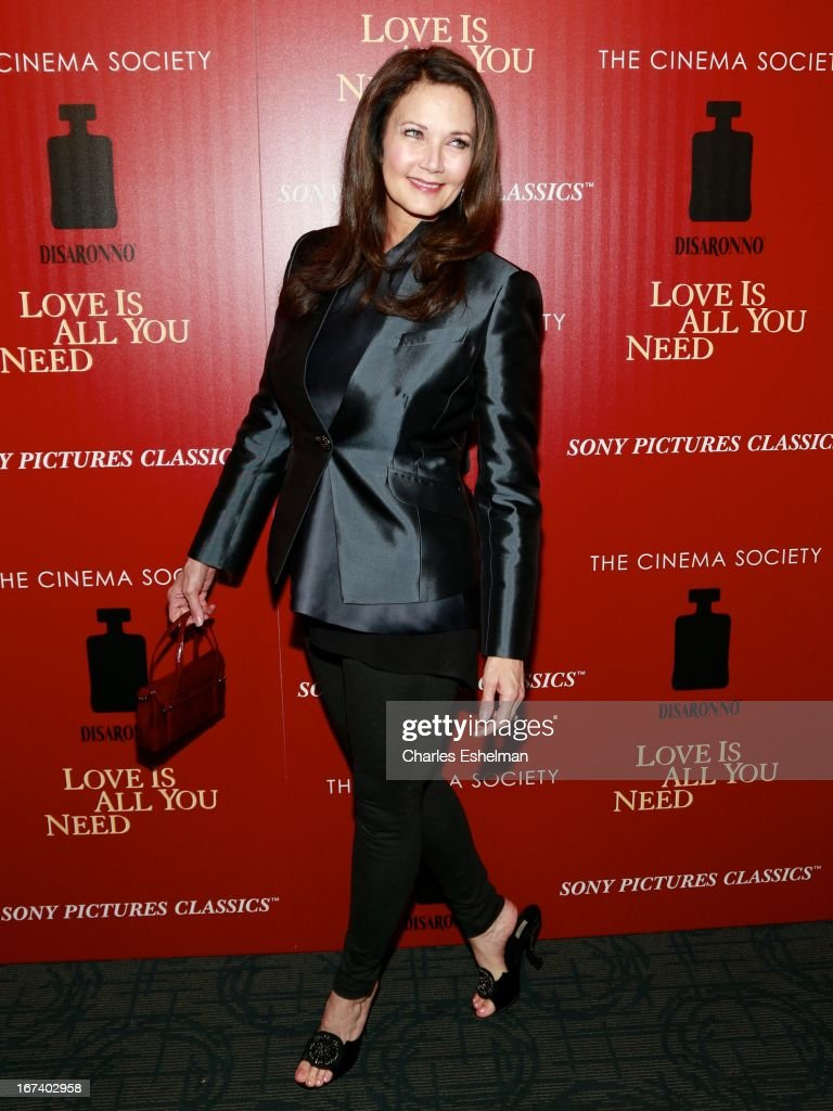 Singer Lynda Carter attends The Cinema Society & Disaronno screening of Sony Pictures Classics' 'Love Is All You Need' at Landmark Sunshine Cinema on April 24, 2013 in New York City.