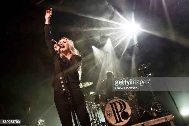 Singer Lyndsey Gunnulfsen of the American band Pvris performs live on stage during a concert at the Columbia Theater on May 11 2017 in Berlin Germany