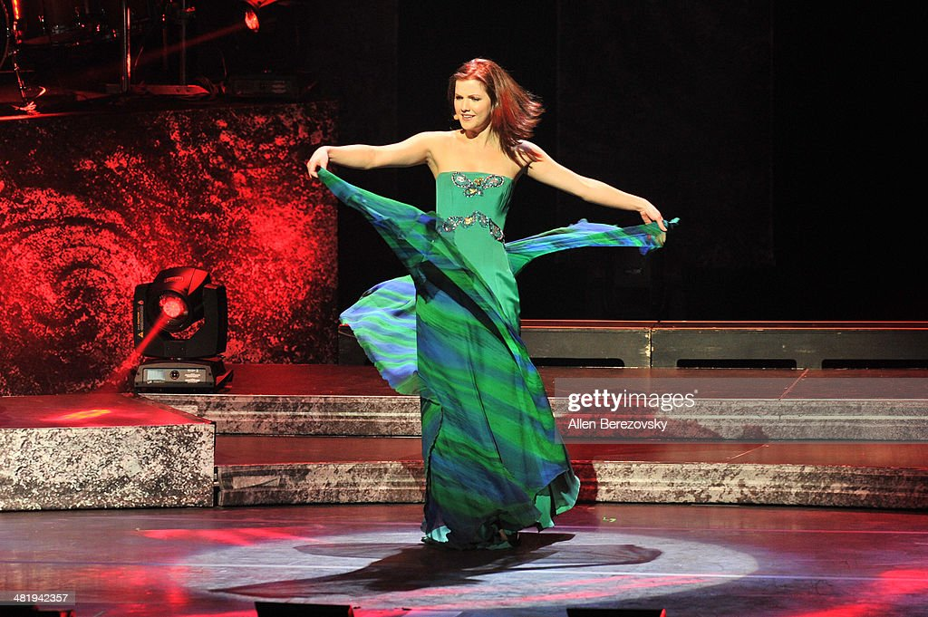 Singer Lynn Hilary of Celtic Woman performs during 'The Emerald Tour' concert at Segerstrom Center For The Arts on April 1, 2014 in Costa Mesa, California.