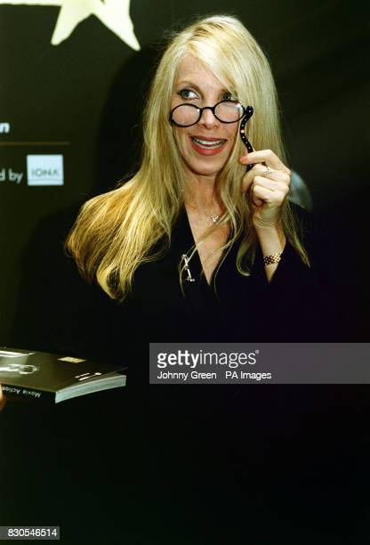 Singer Lynsey de Paul arrives at Sotheby's in central London for the celebrity preview of film memorabilia auction in aid of Unicef Ireland's Movie...