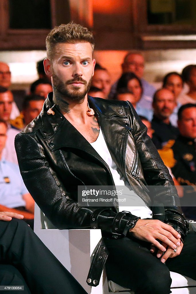 Singer M. Pokora attends the 'Une Nuit avec la Police et la Gendarmerie' : France 2 TV Show. Held at Ministere de l'Interieur in Paris on June 30, 2015 in Paris, France.