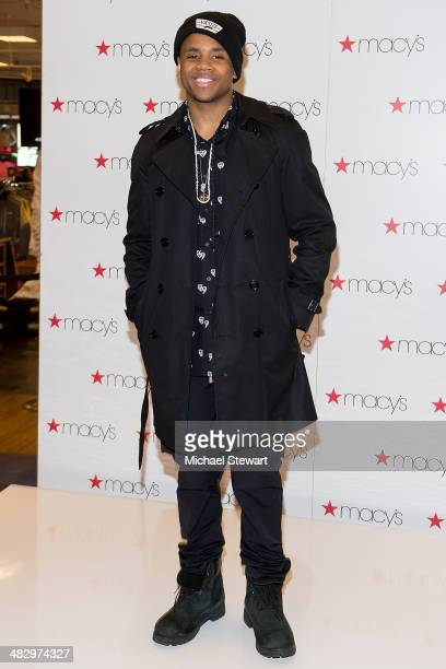 Singer Mack Wilds visits Macy's Herald Square on April 5 2014 in New York City