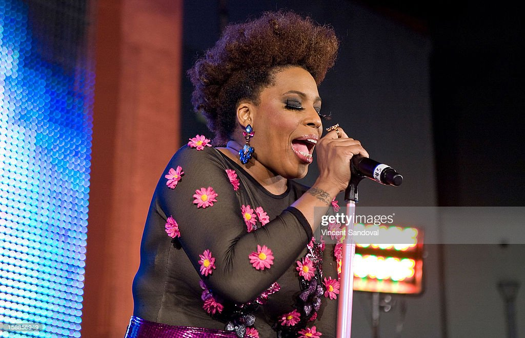 Singer <a gi-track='captionPersonalityLinkClicked' href=/galleries/search?phrase=Macy+Gray&family=editorial&specificpeople=208718 ng-click='$event.stopPropagation()'>Macy Gray</a> performs at the 'First Night 2013' New Year's Eve Party hosted by Jamie Kennnedy at Grauman's Chinese Theatre on December 31, 2012 in Hollywood, California.