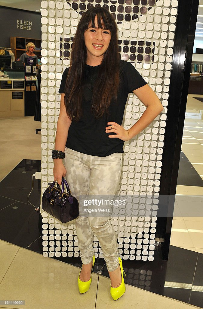 Singer Madeline Fuhrman attends the launch of Ruthie Davis' new collection at Bloomingdales Century City on March 23, 2013 in Century City, California.