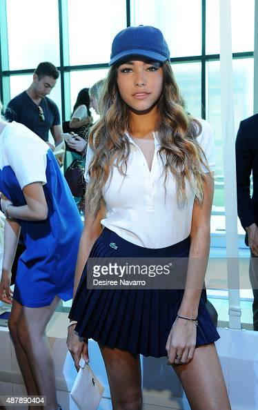 Singer Madison Beer attends Lacoste Front Row Backstage Spring 2016 New York Fashion Week at Spring Studios on September 12 2015 in New York City