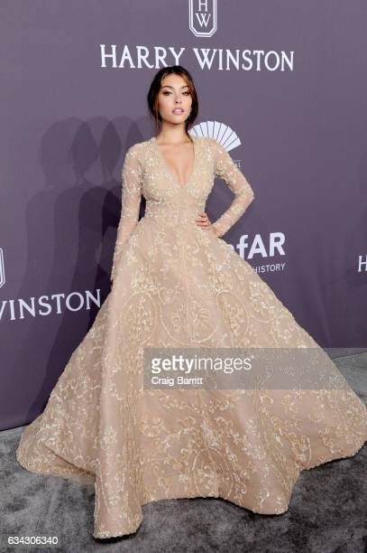 Singer Madison Beer attends the amfAR New York Gala 2017 sponsored by FIJI Water at Cipriani Wall Street on February 8 2017 in New York City