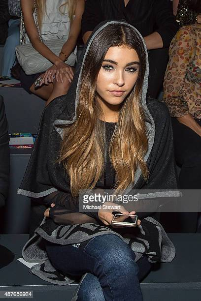 Singer Madison Beer attends the Desigual fashion show during Spring 2016 New York Fashion Week at The Arc Skylight at Moynihan Station on September...