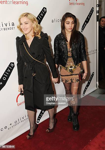 Singer Madonna and daughter Lourdes Leon attend the 2nd Annual Bent on Learning Benef at The Puck Building on April 28 2010 in New York City