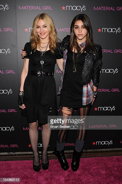Singer Madonna and daughter Lourdes Leon attends the 'Material Girl' collection launch at Macy's Herald Square on September 22 2010 in New York City