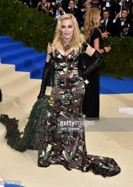 Singer Madonna attends 'Rei Kawakubo/Comme des Garcons Art Of The InBetween' Costume Institute Gala at Metropolitan Museum of Art on May 1 2017 in...