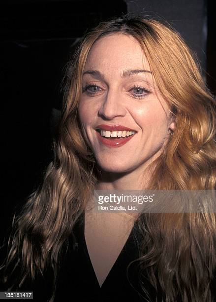 Singer Madonna attends the 'Artemisia' New York City Premiere on April 28 1998 at City Cinemas Cinema 2 in New York City