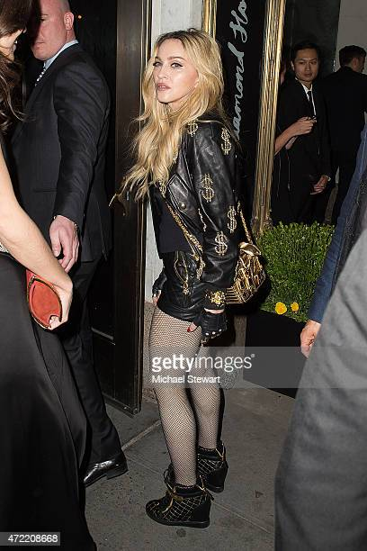 Singer Madonna attends the 'China Through The Looking Glass' Costume Institute Benefit Gala after party at the Diamond Horseshoe at the Paramount...