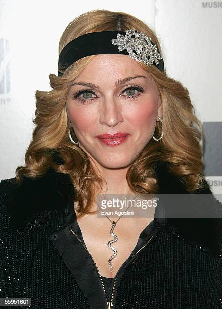 Singer Madonna attends the screening of her new documentary film 'I'm Going To Tell You A Secret' at Loews Lincoln Square October 18 2005 in New York...