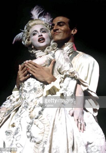 Singer Madonna dressed as Marie Antoinette for a performance of her song 'Vogue' at the 1990 MTV Video Music Awards Los Angeles 6th September 1990