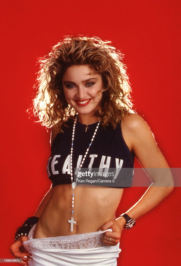 Singer Madonna is photographed for People Magazine in 1985 in New York City.