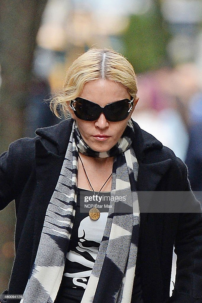 Singer Madonna is seen on March 22, 2014 in New York City.