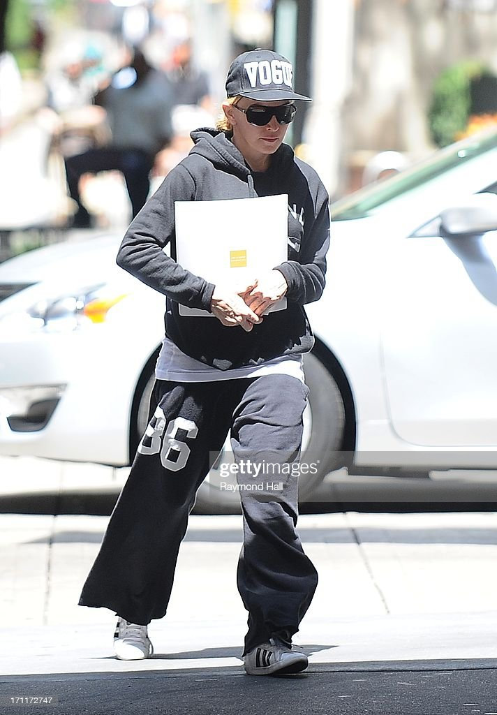 Singer Madonna is seen outside the 'Kabbalah Centre' on June 22, 2013 in New York City.