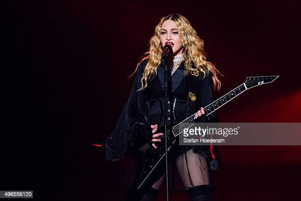 Singer Madonna performs live on stage during a concert at MercedesBenz Arena on November 10 2015 in Berlin Germany