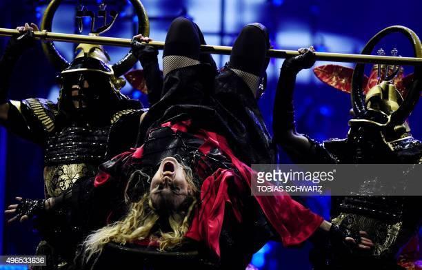 US singer Madonna performs on stage during her 'Rebel Heart' tour in Berlin on November 10 2015 AFP PHOTO / TOBIAS SCHWARZ